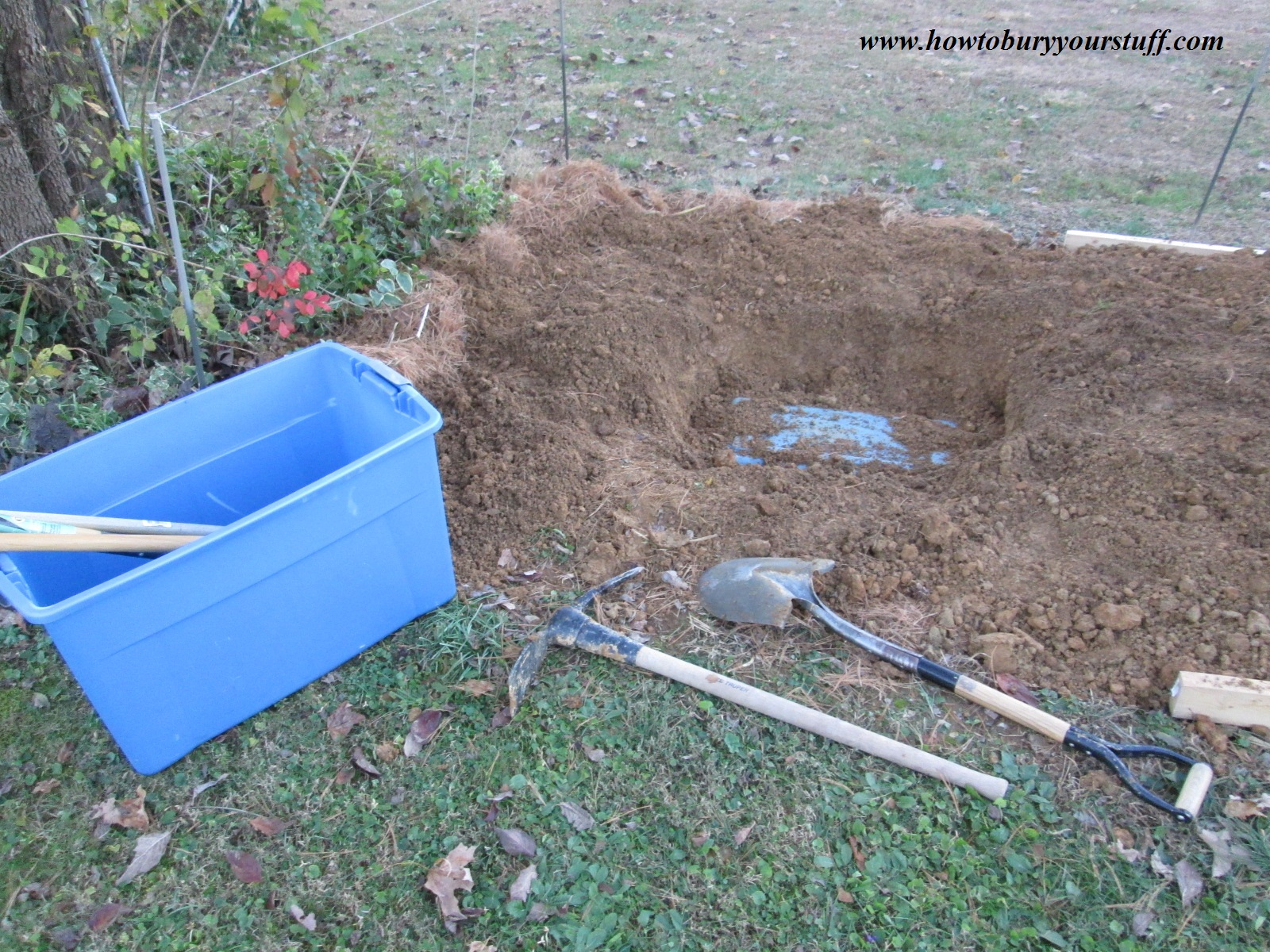 How to properly bury your valuables underground | Because ...